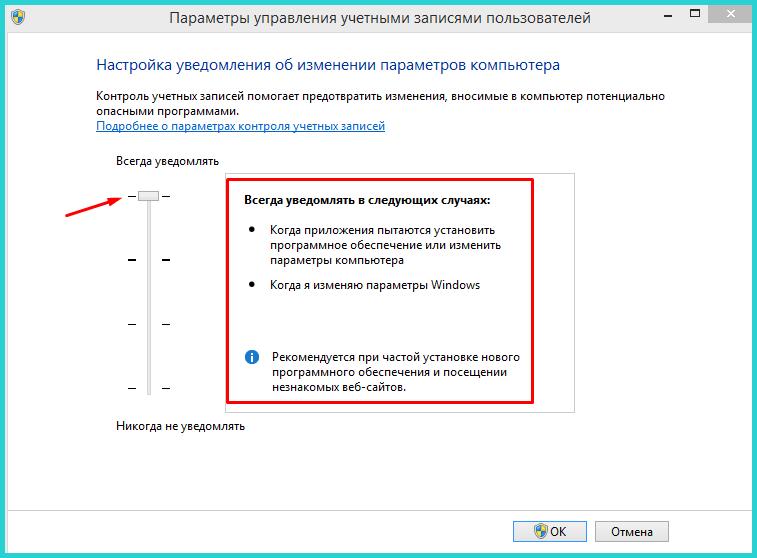 Первый параметр дает возможность инструменту всегда уведомлять пользователя обо всех вносимых изменениях