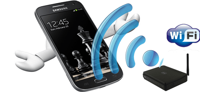 Подключаем телефон к другому источнику раздачи Wi-Fi