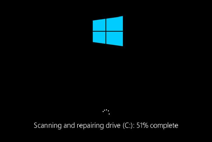 После рестарта компьютера следим за проверкой жесткого диска