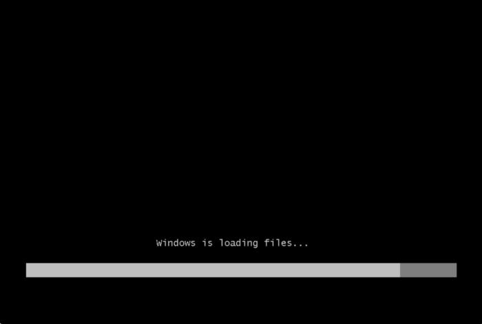 Производится загрузка Windows