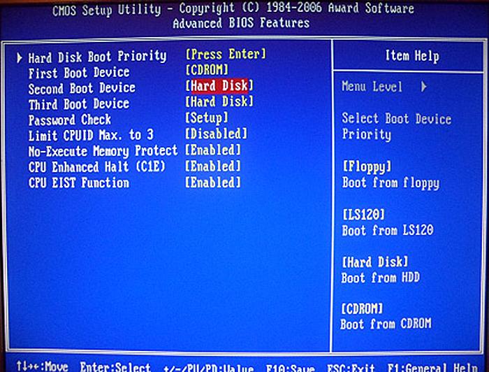 Устанавливаем жесткий диск (Hard Disk)