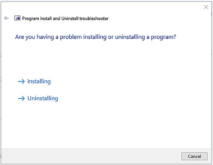 Выбираем «Uninstalling», если iTunes была установлена, и «Installing», если еще нет