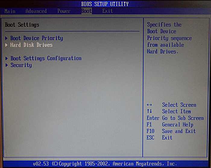 Выбираем строку «Hard Disk Drives»