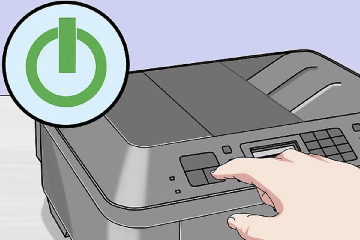 Запускаем принтер и ожидаем, когда он перейдет в режим ожидания