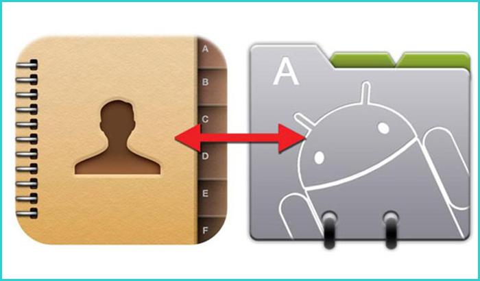 Процесс ручного импорта контактов с Google на Android
