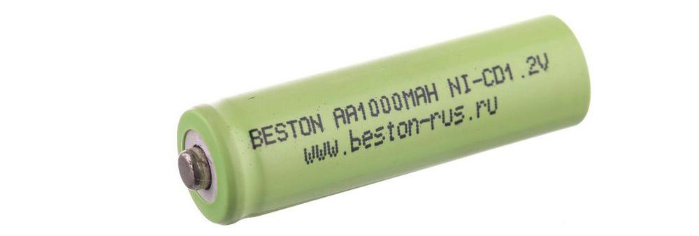 Аккумулятор BESTON AA1000MAH, 1.2 В, NiCd bulk