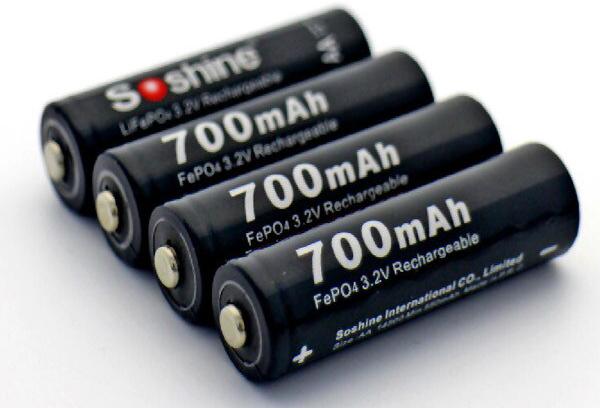 Аккумулятор LiFe Robiton 14500 литий-железофосфатный 700mАh 3.2 v