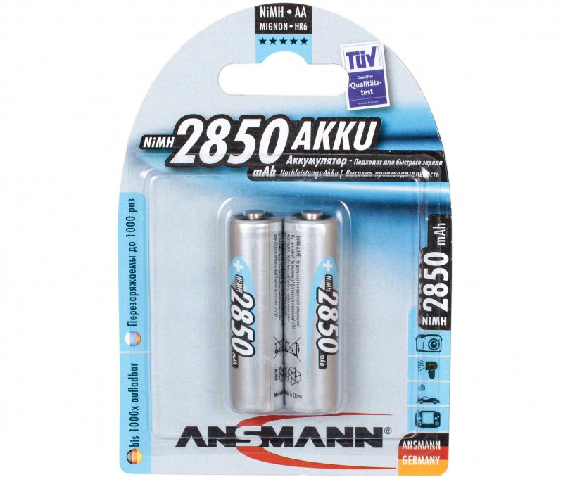 Аккумулятор Ni-Mh 2850 мАч ANSMANN AA 2850 AKKU