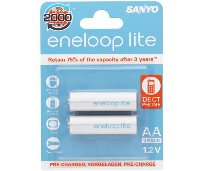 Аккумулятор SANYO Eneloop Lite (HR-3UQ-2BP), АA, 550 mAh