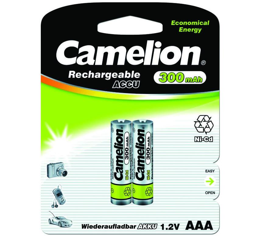 Аккумуляторная никель-кадмиевая батарея Camelion Ni-Cd 300 mAh 1,2 В 2 шт.