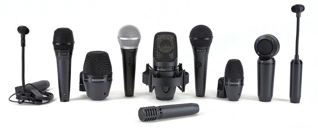 Различные виды микрофонов