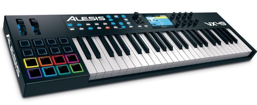 Alesis VX49 USB c Drumpad-контроллером