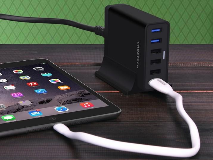 CHOEtech 60 Вт 6-портовое настольное USB-зарядное устройство