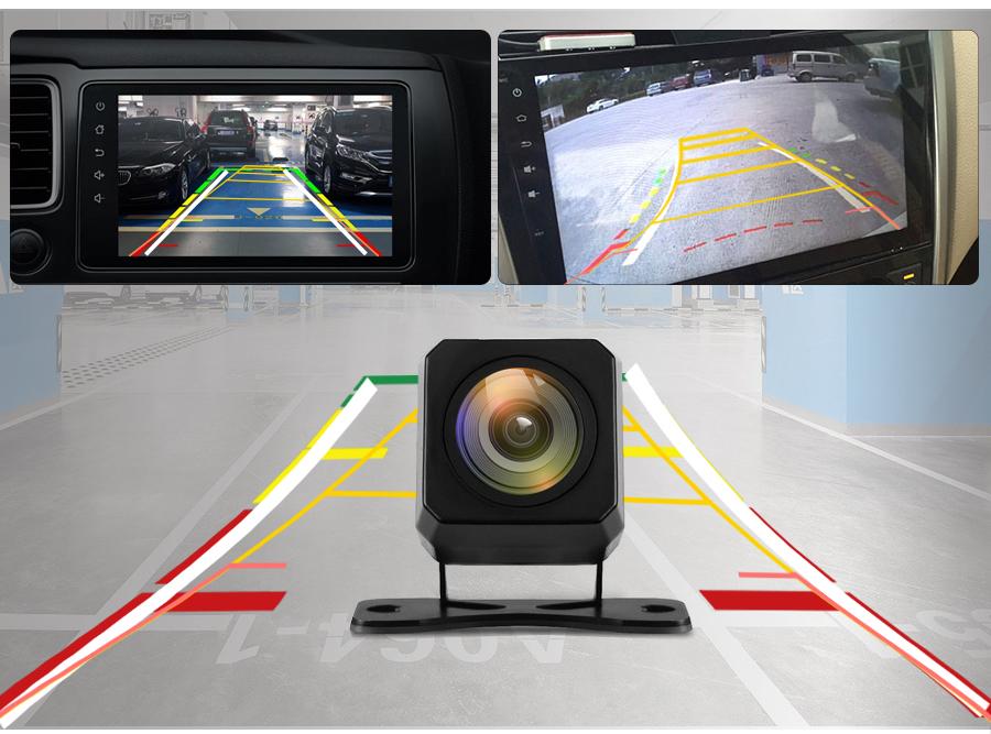 На изображение в камере для авто накладывается сетка парковочных линий