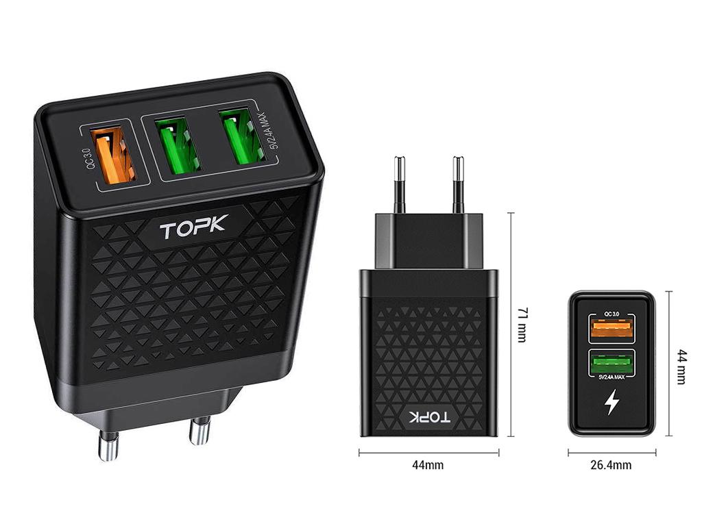 TOPK B254Q, 28W, 2 USB-порта