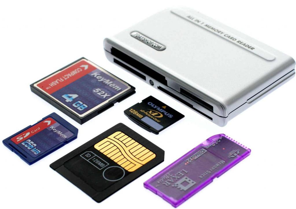 Кардридер – устройство для считывания информации с жёсткого диска и других носителей