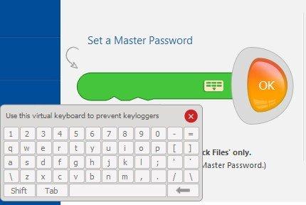 Запуск виртуальной клавиатуры для установки пароля