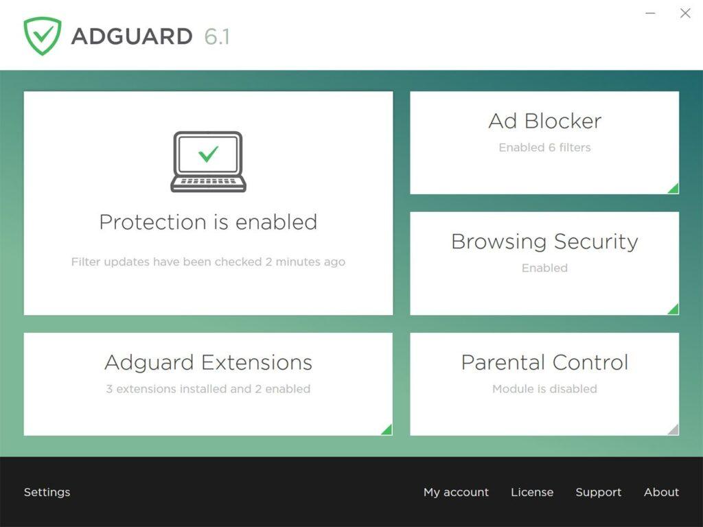 Adguard помогает бороться с всплывающими окнами, спамом и предотвращают случайную установку нежелательного контента