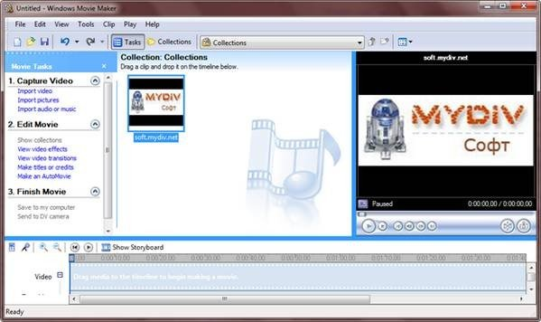 Программа для видеомонтажа Windows Movie Maker