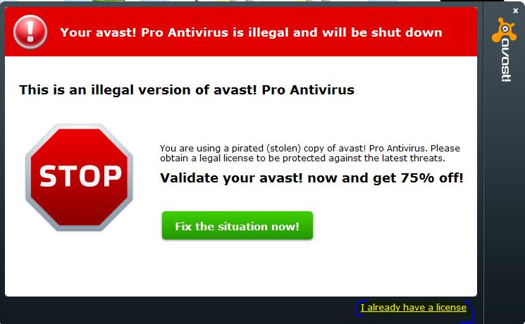 Бывает, что процесс удаления выполняется с ошибкой, указывающей на отсутствие файлов Avast
