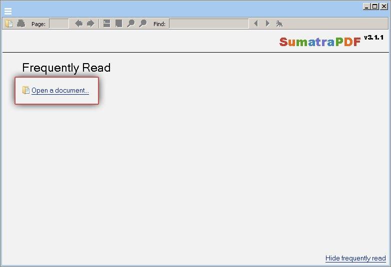 Кнопка «Открыть документ ...»