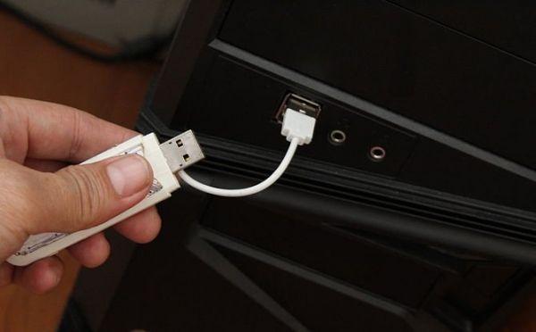 Подключаем другой конец USB-кабеля к компьютеру и проверяем
