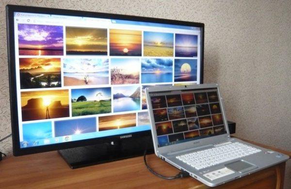 Рабочий стол ПК на экране телевизора