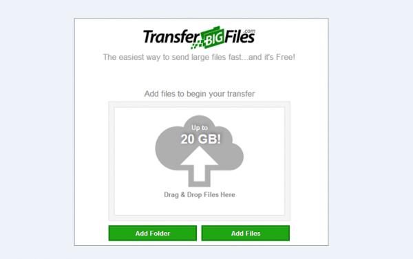 Сервис для передачи больших файлов TransferBigFiles