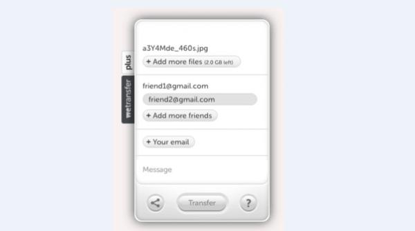 Указываем электронный адрес получателя, по желанию заполняем поля «Your email» и «Message»