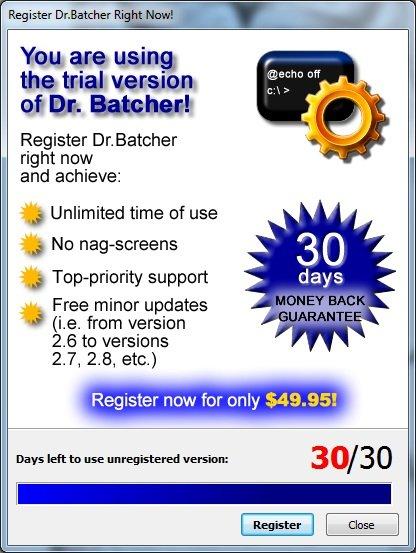 Утилита «Dr.Batcher»