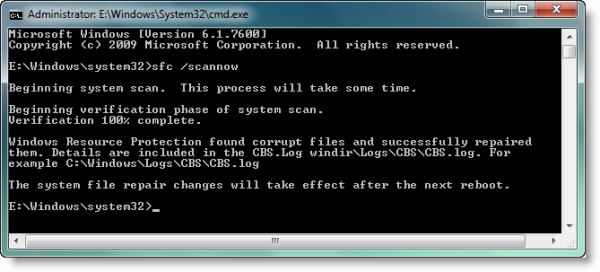 Утилита «System File Checker»