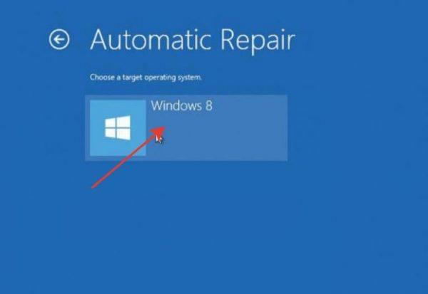 В разделе «Automatic Repair» выбираем учетную запись вашего ПК и нажимаем «Continue»