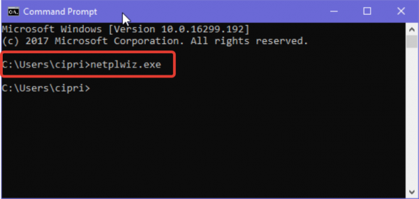 Вводим команду netplwiz или control userpasswords2