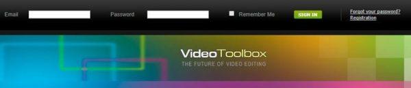 Заходим на официальный сайт Video Toolbox и регистрируемся