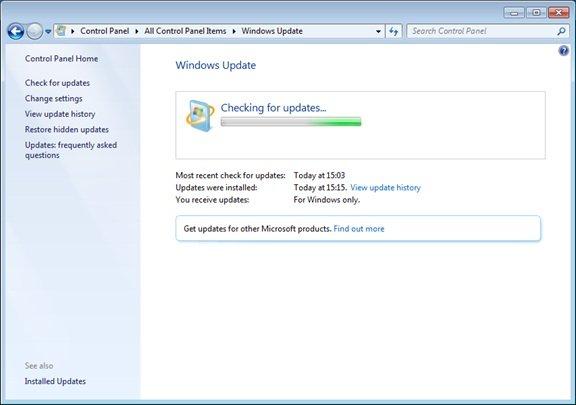 Для русификации системы используем функцией «Windows update»