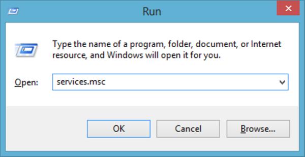 Используем сочетание клавиш Windows+R, в окне прописываем services.msc, нажимаем Enter