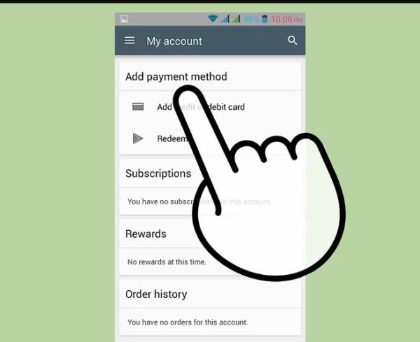 Нажимаем «Добавить способ оплаты» или «Add payment method»