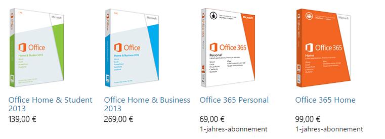 Пакеты Office 365
