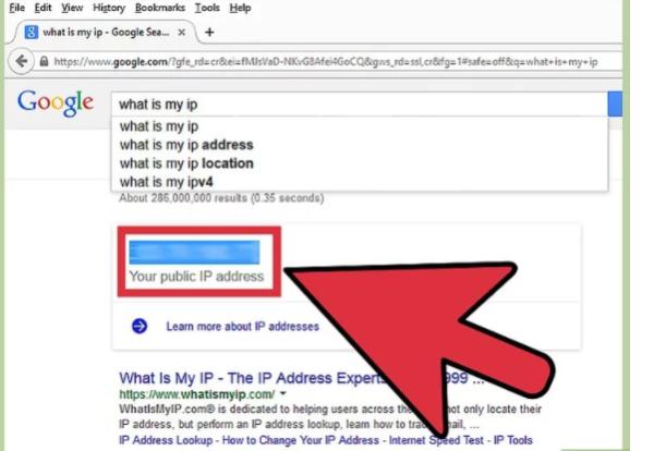 Записываем свой IP-адрес