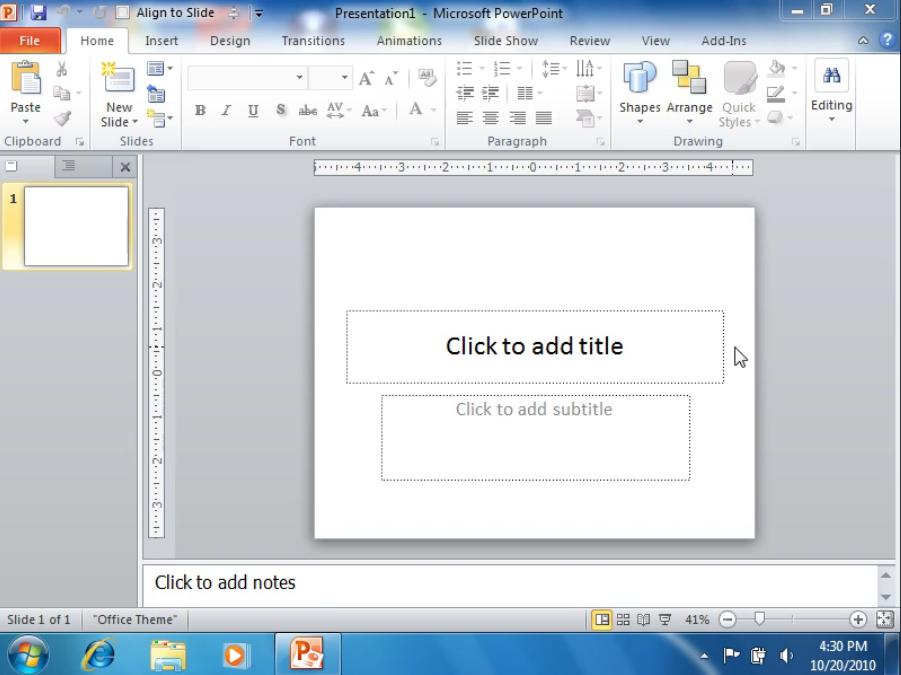 Запускаем программу PowerPoint