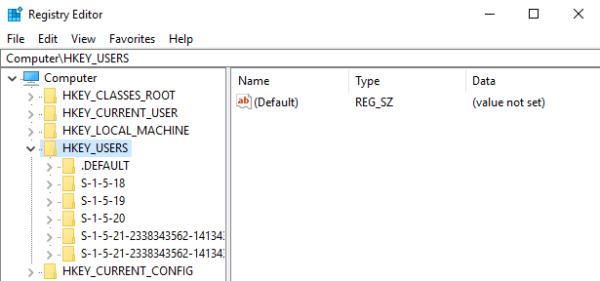 HKEY_USERS (HKU) - имеет подразделы соответствующие ключам HKEY_CURRENT_USER