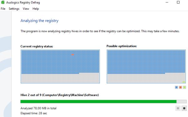 Программа Auslogics Registry Defrag