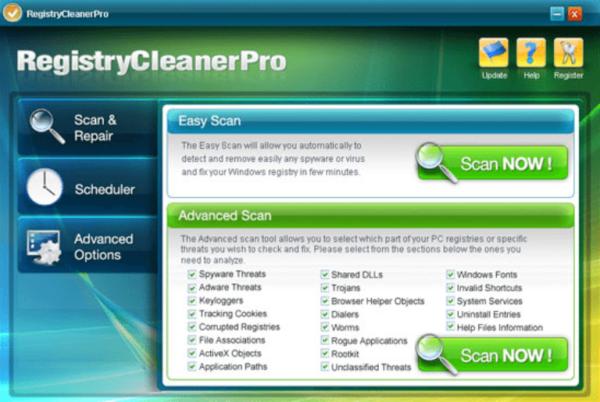 Программа для очистки реестра RegistryCleanerPro