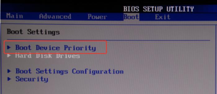 Переходим в пункт «Boot Device Prority»