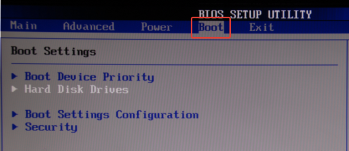 Переходим во вкладку «Boot» с помощью стрелок на клавиатуре, нажимаем «Enter»
