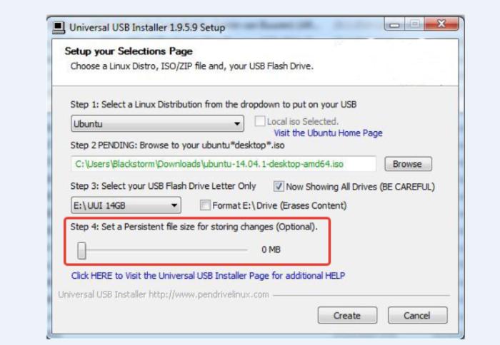 Устанавливаем постоянный размер файла, используя ползунок в разделе « Step 4»