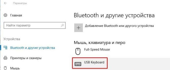 В разделе «Мышь, клавиатура и перо» щелкаем по клавиатуре