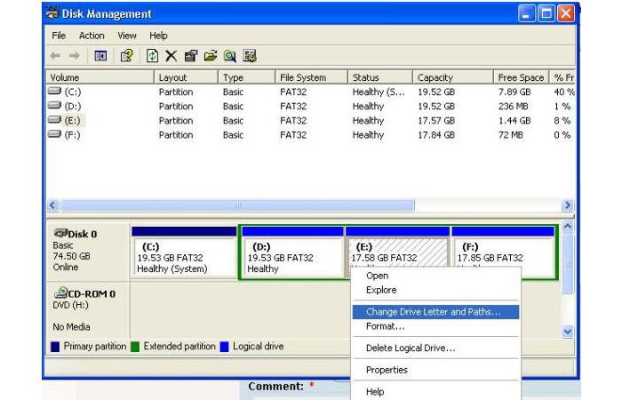 Открываем окно «Disk Management»