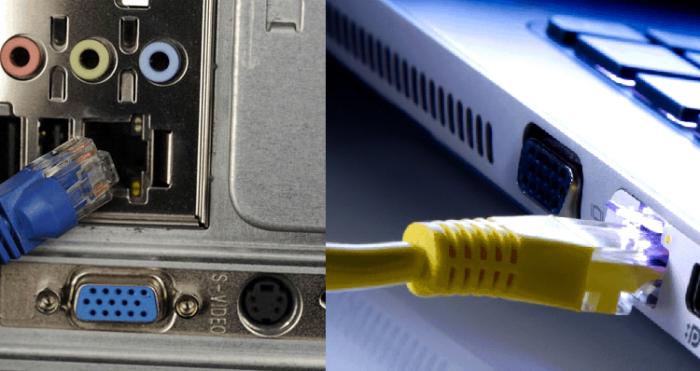 Подключаем интернет-кабель к системному блоку или ноутбуку