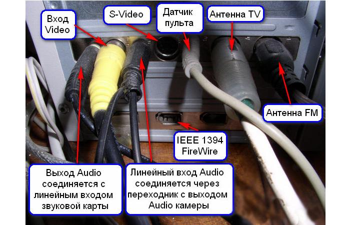 Подключаем провода к компьютеру